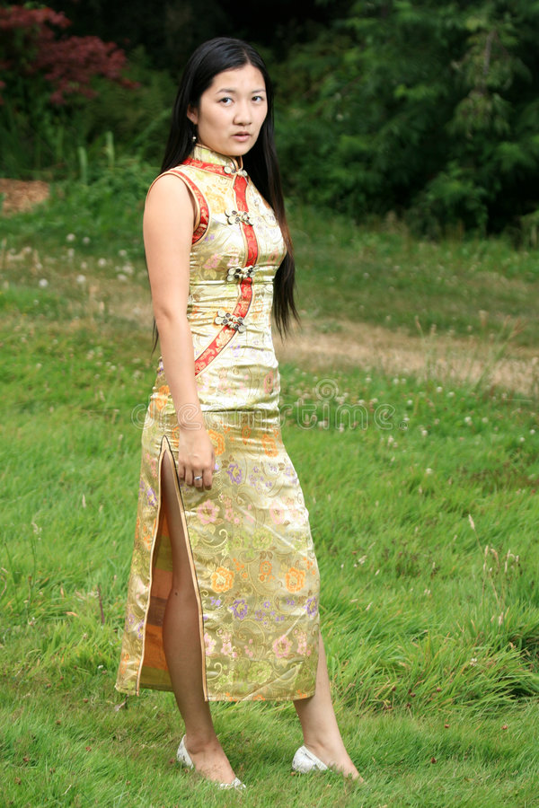 Portrait Of Traditional Chinese Girl Stock Photo Image