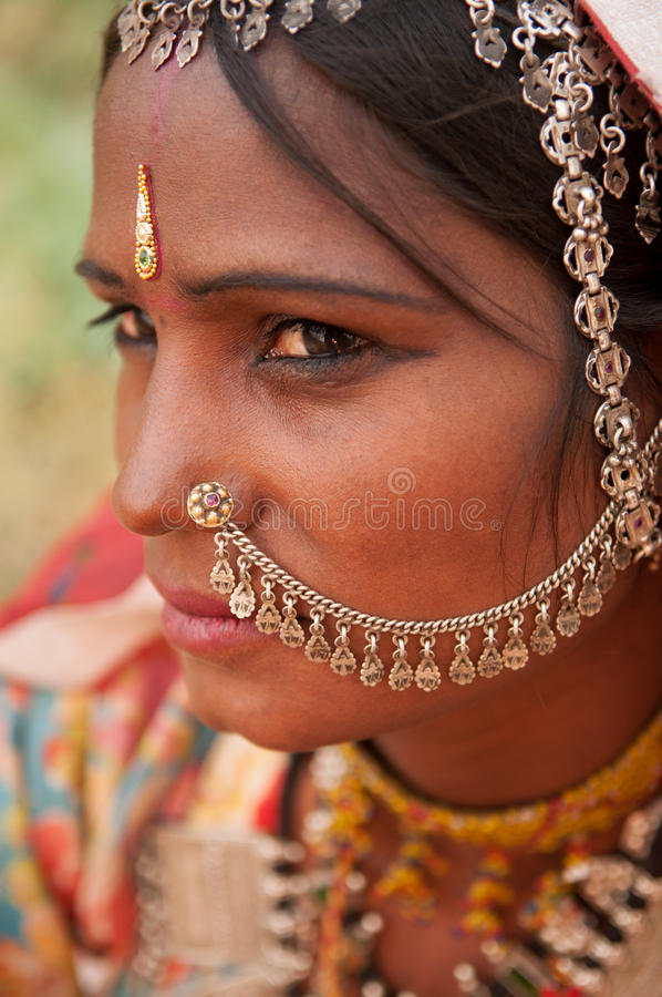 Portrait Of Traditional Indian Girl In Saree Stock Photo -4972