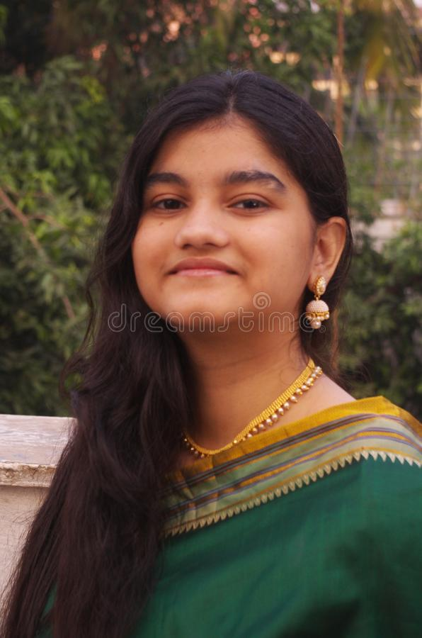 Traditional Maharashtrian Girl-5 stock image