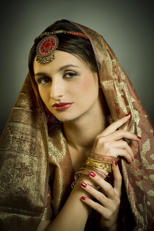 portrait with traditionl costume stock photography