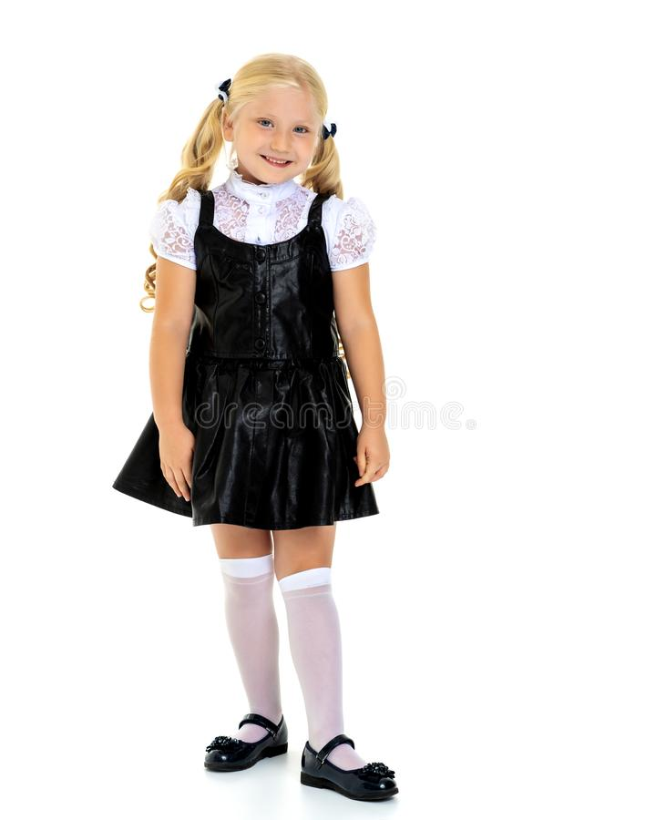 Fashionable little girl. stock photo