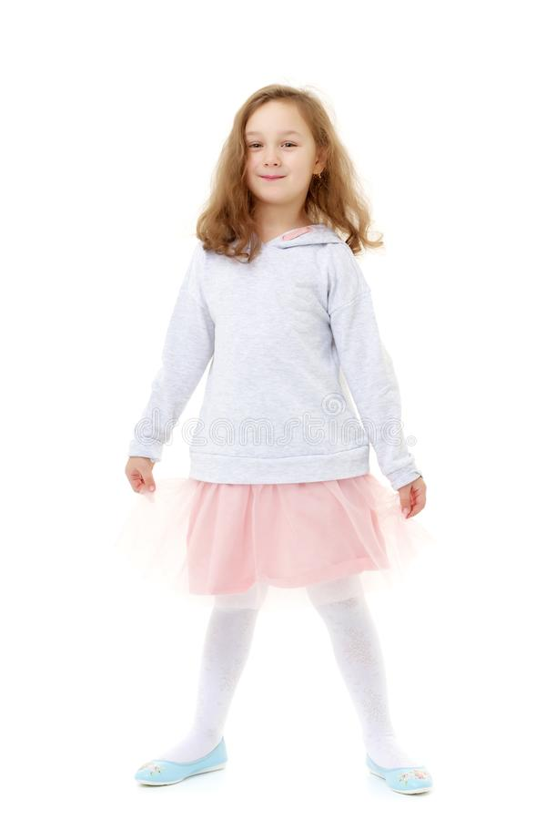 Fashionable little girl. royalty free stock photo