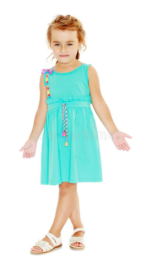 Fashionable little girl. stock photography