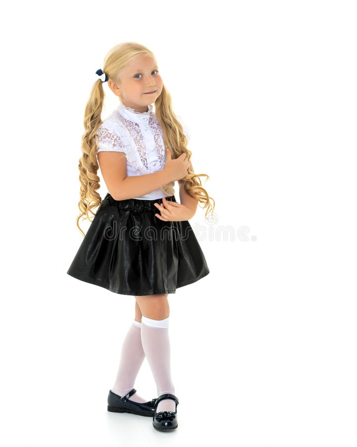 Fashionable little girl. royalty free stock photos