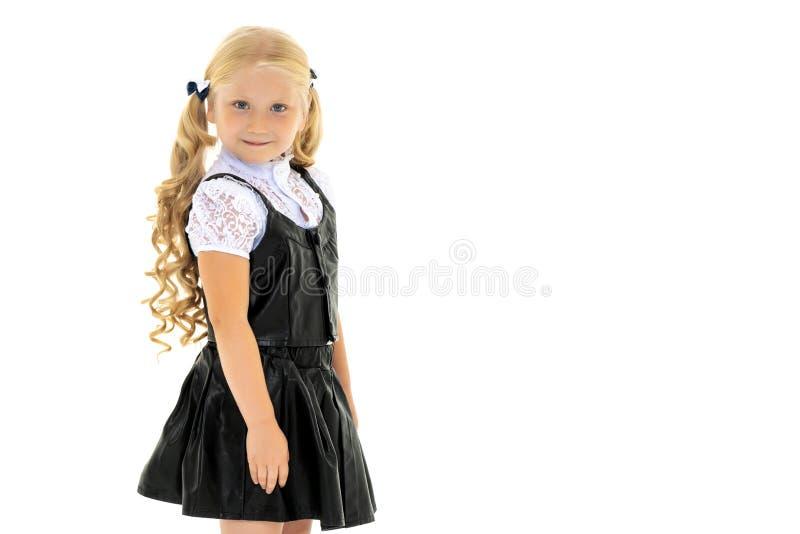 Fashionable little girl.Isolated on white background. stock image