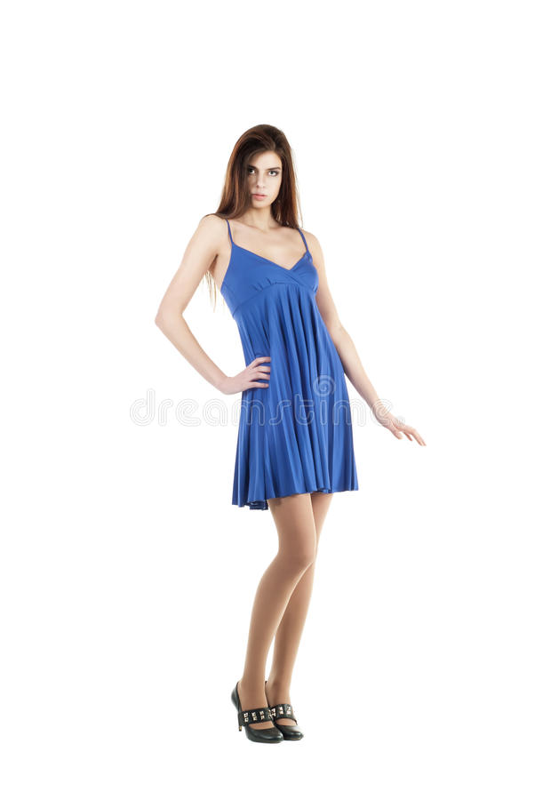 Portrait of trendy young woman royalty free stock photography
