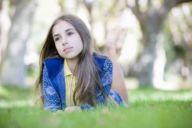 Portrait of Tween Girl stock photos