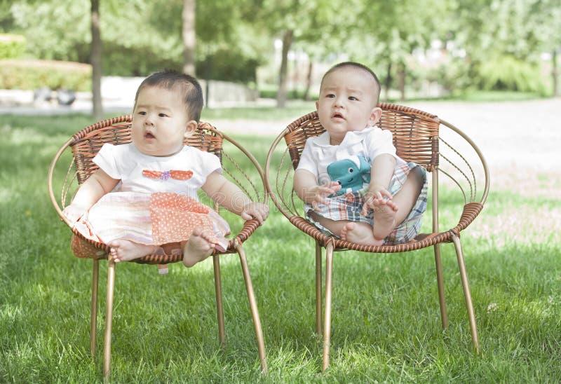 Download Portrait Of Twinborn Babies Stock Image - Image: 31376233
