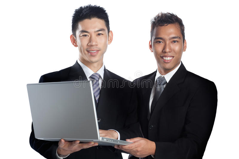 Download Portrait Of Two Asian Professionals Presenting Stock Photo - Image: 10905958