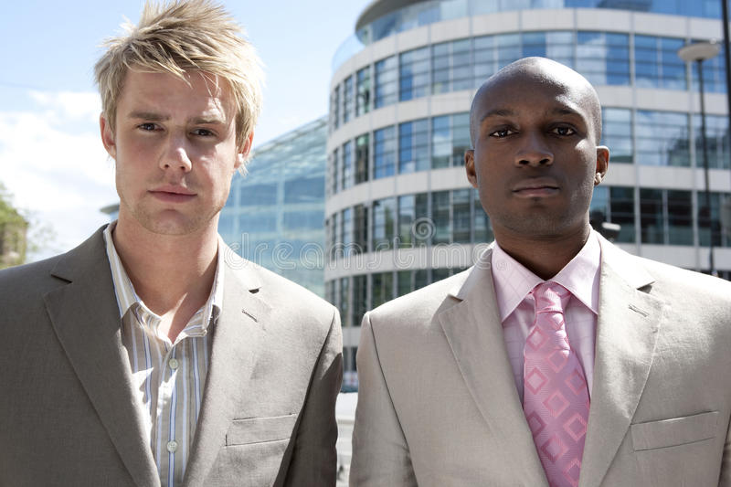 Download Portrait Of Two With Buildings Stock Image - Image: 25194965