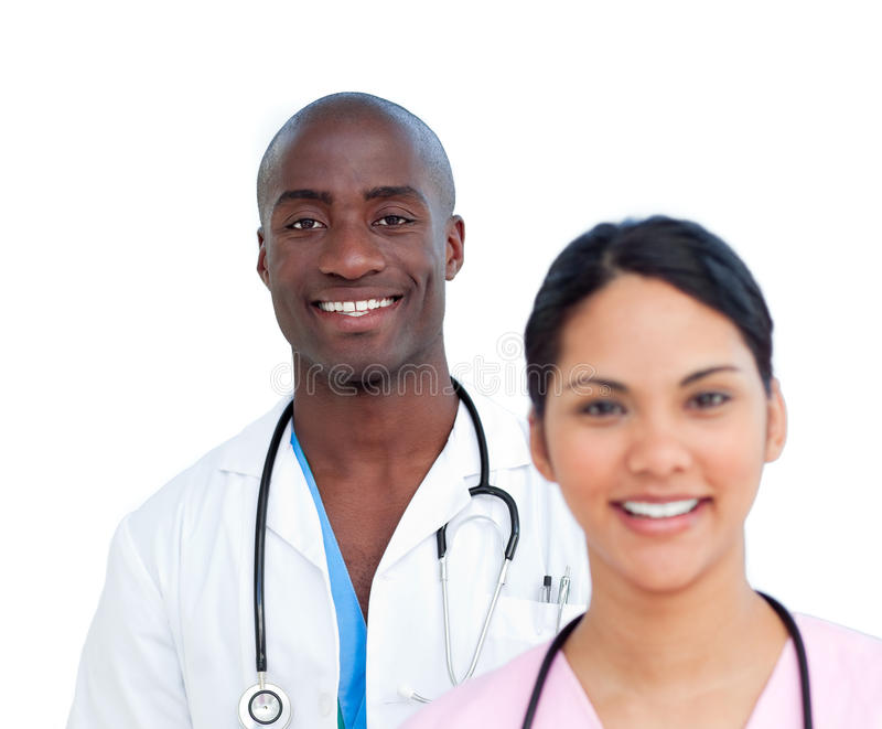 Download Portrait Of Two Charismatic Doctors Stock Photo - Image: 12867976