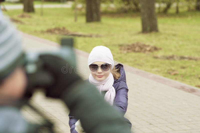 Download Portrait Of Two Children In Park Stock Image - Image: 30141413
