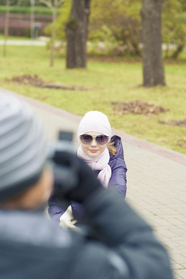 Download Portrait Of Two Children In Park Photographing Royalty Free Stock Photos - Image: 30141348