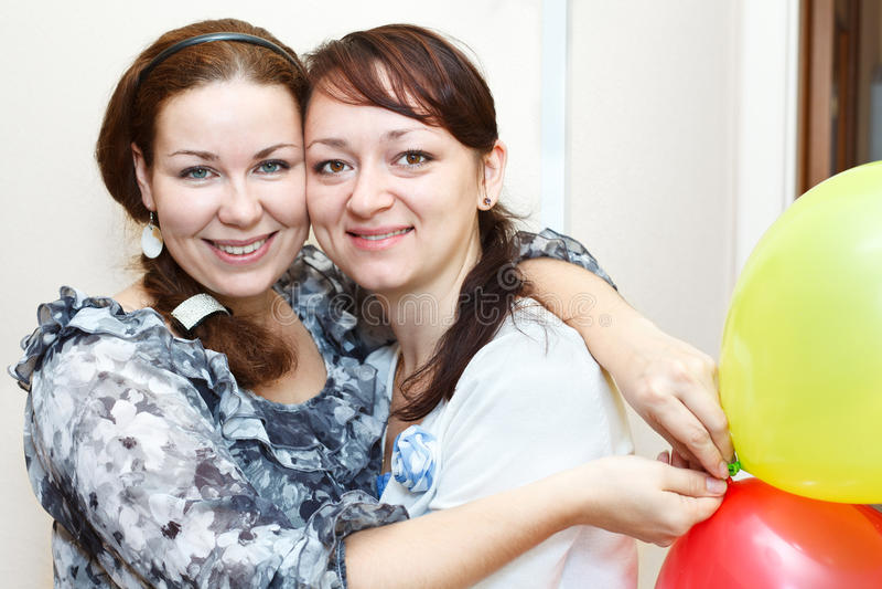 Download Portrait Of Two Happy Women Stock Photo - Image: 21916472