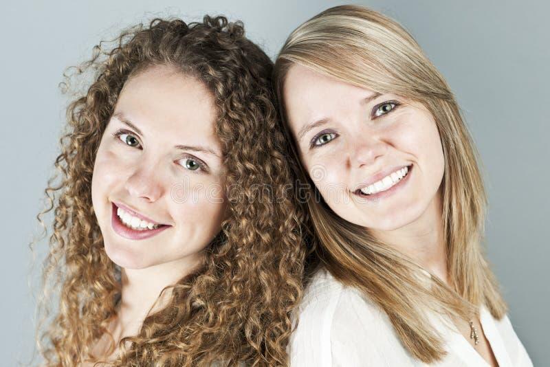 Portrait of two smiling women