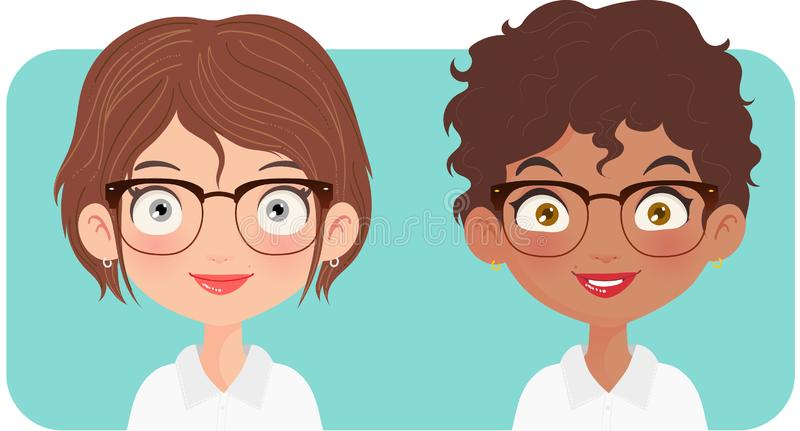 Portrait of two women entrepreneur royalty free stock images