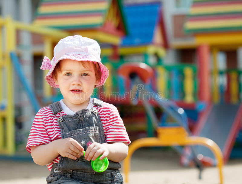 Portrait of two-year child stock photo
