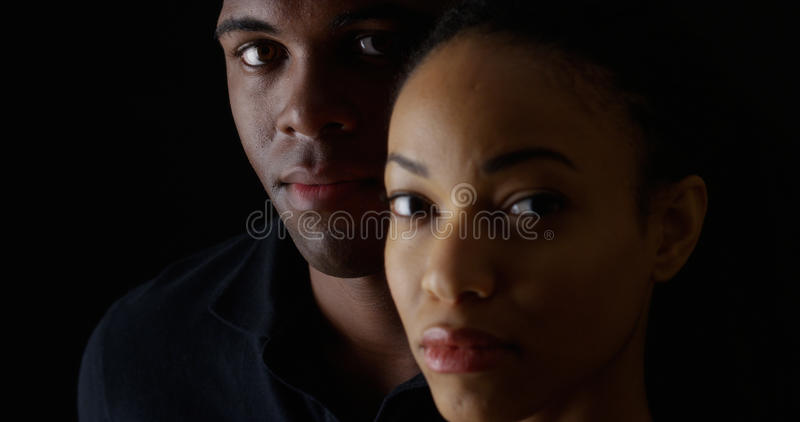Portrait two young African Americans stock photography