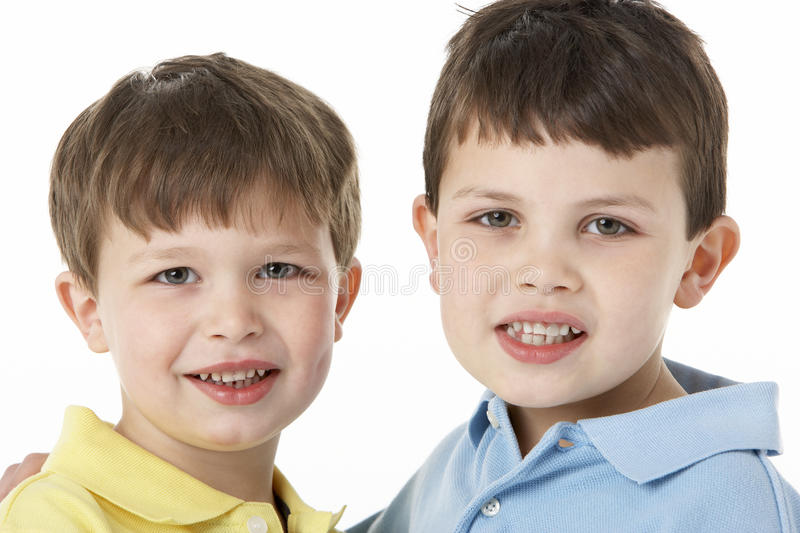 Portrait Of Two Young Boys stock image
