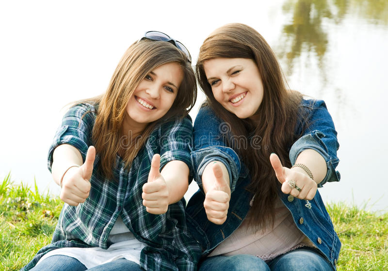 Download Portrait Of Two Young Teenagers Stock Photo - Image: 19358074