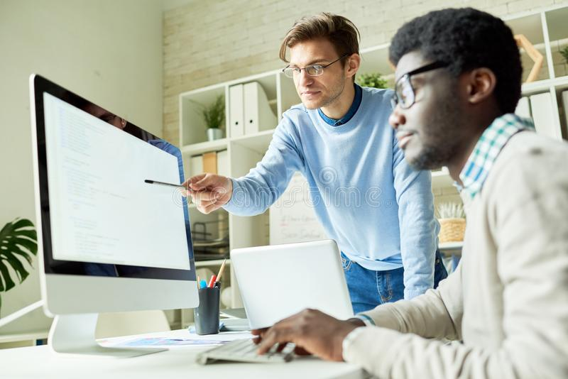 IT Developers in Web Studio stock images