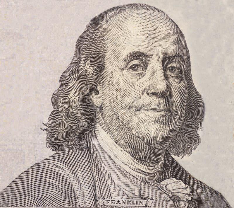 Portrait of U.S. president Benjamin Franklin royalty free stock images