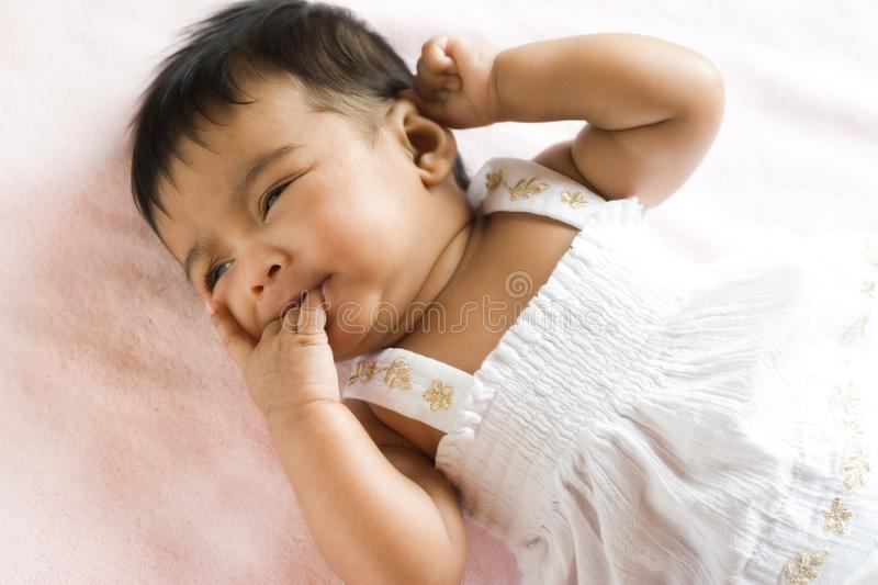 Download Portrait Of Unhappy Indian Baby Stock Image - Image of expression, diversity: 14404039