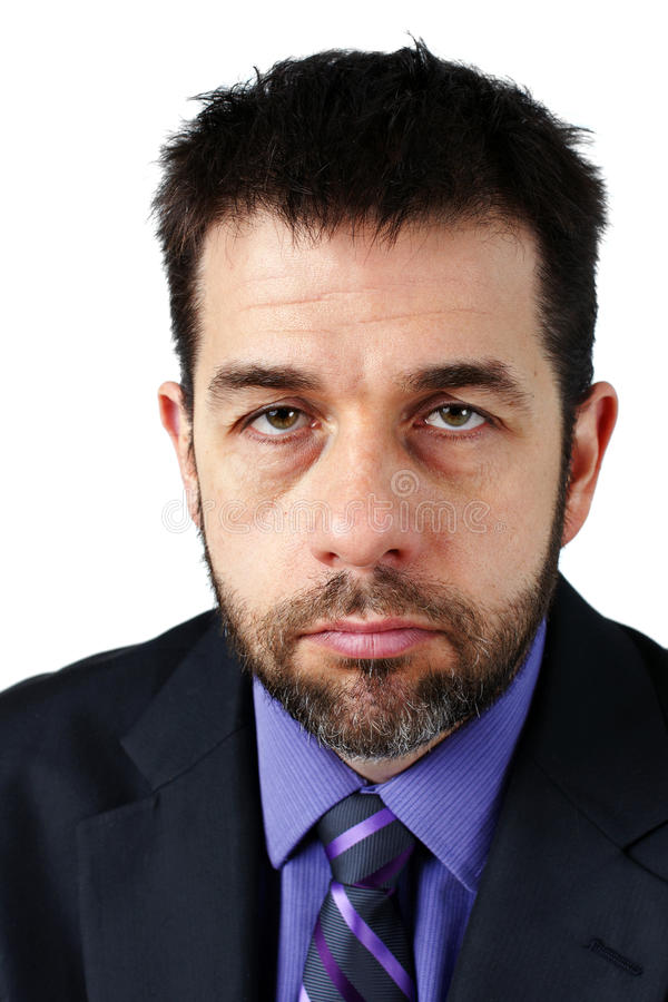 Portrait Of Unhappy Man In Suit Royalty Free Stock Image
