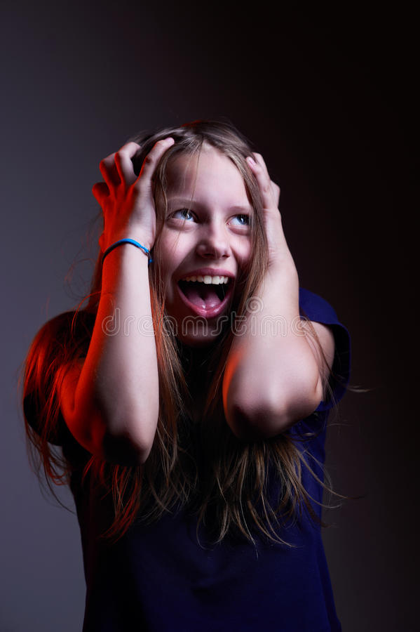Download Portrait Of Unhappy Screaming Teen Girl Stock Photo - Image: 32229472