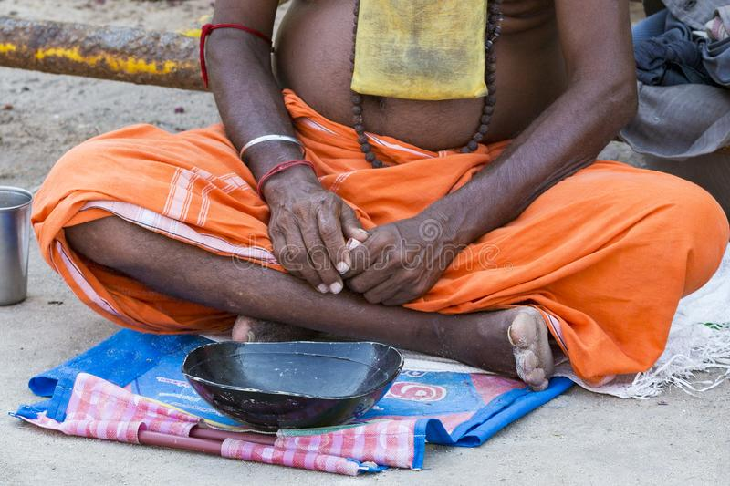 Arresting Sadhus Portrait Photography Religious Photography: Portrait Of Sadhus During Their Meal Editorial Image