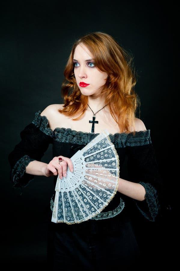 Portrait of vampire woman stock image