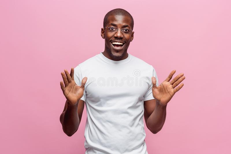 Portrait of a very happy afro American man royalty free stock photos