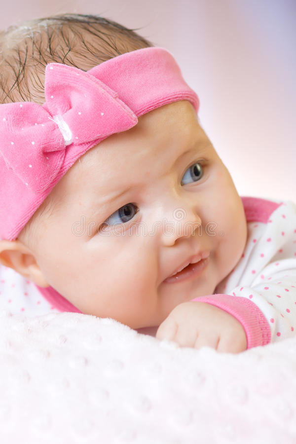Portrait of very sweet little baby royalty free stock photography