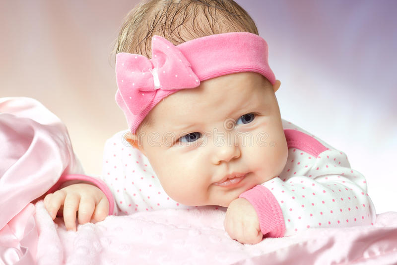 Portrait of very sweet little baby royalty free stock photo