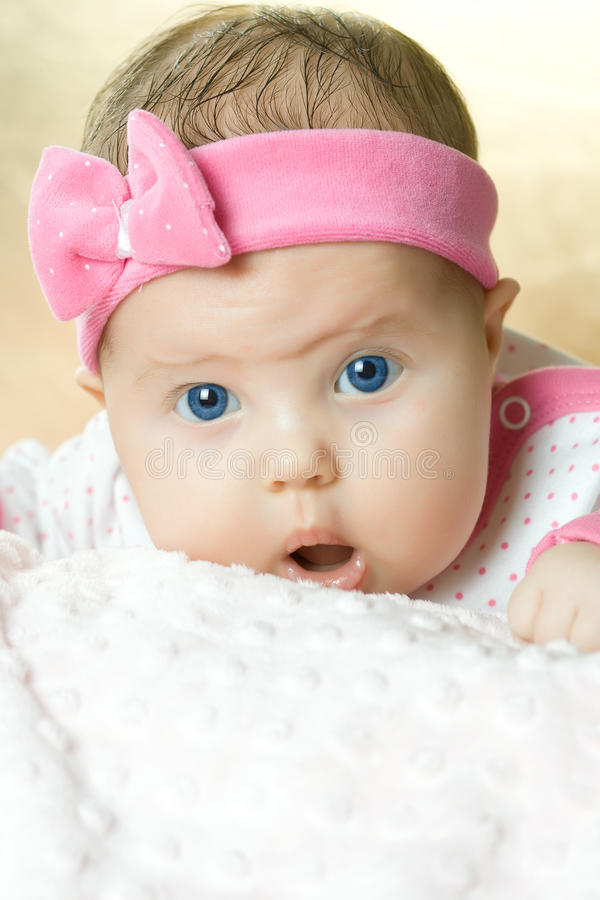 Portrait of very sweet little baby royalty free stock images