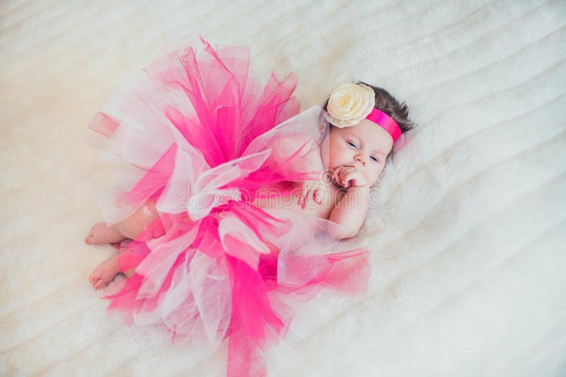 Portrait of very sweet little baby girl royalty free stock photos