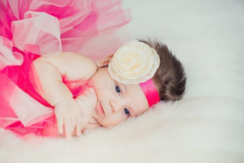 Portrait of very sweet little baby girl stock photography