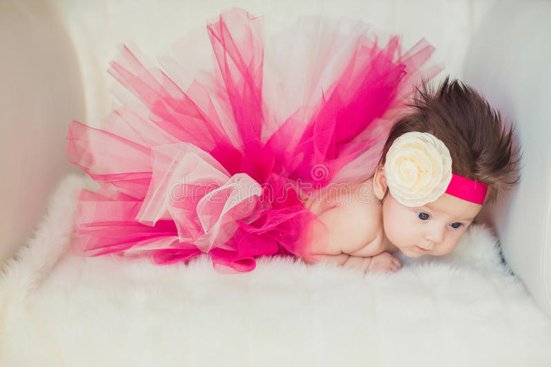 Portrait of very sweet little baby girl stock images