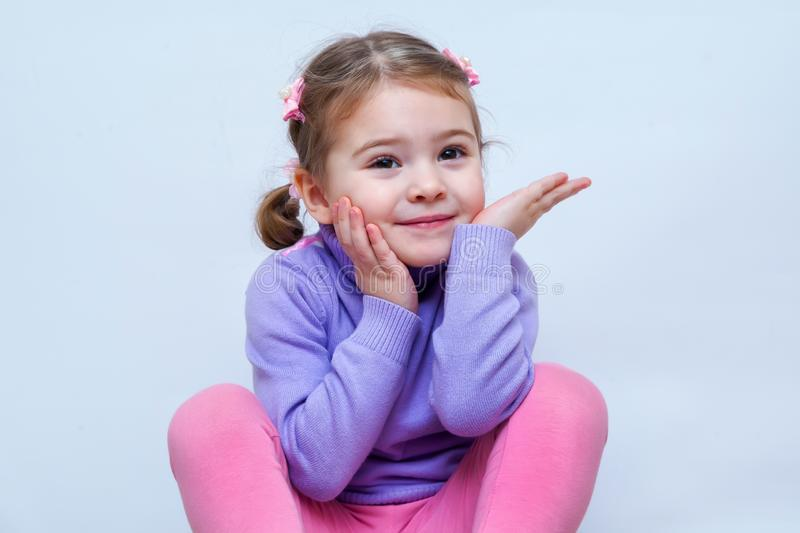 Portrait of very sweet little girl royalty free stock photography