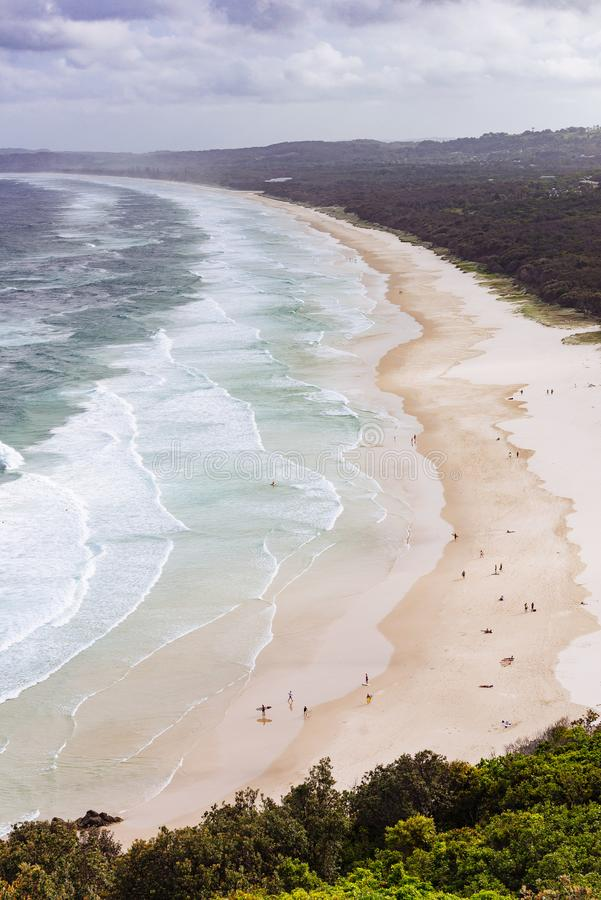 Tallow Beach, Byron Bay, Australia stock images