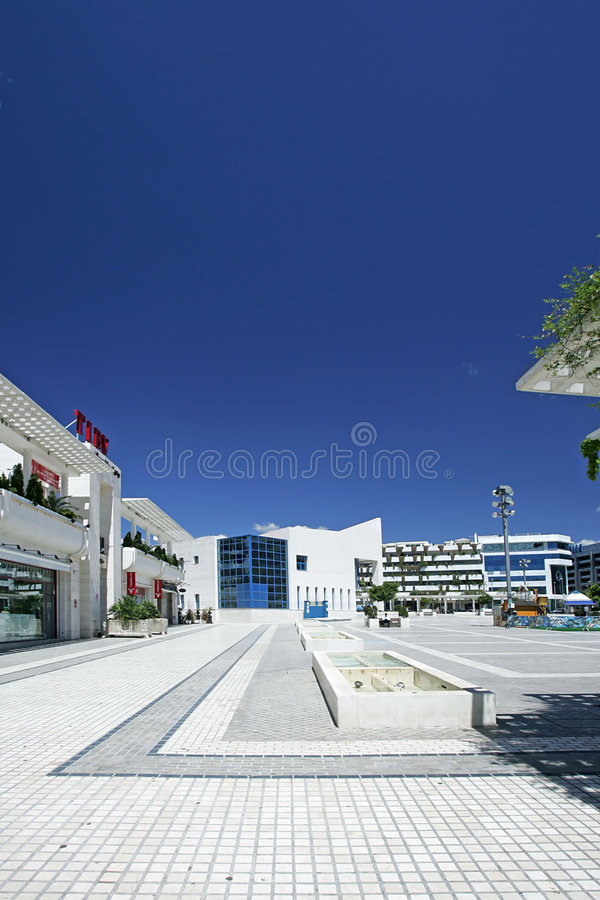 Download Portrait View Of Stunning Main Square In Puerto Banus, Southern Spain Stock Photo - Image: 134356