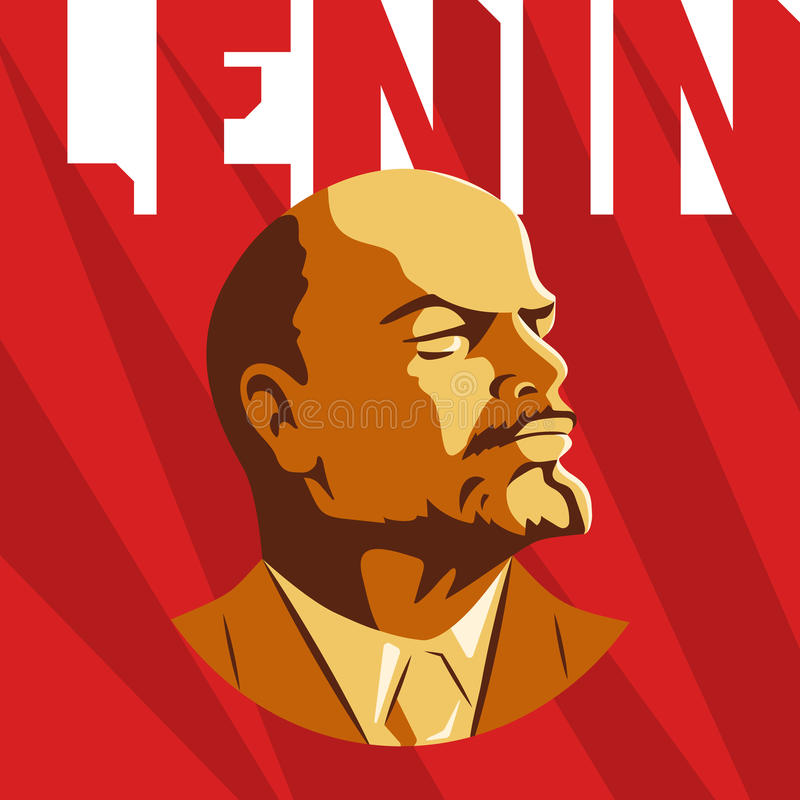 Portrait Vladimir Lenin Poster Stylized Soviet Style Le Leader Ussr Russian Revolutionary Symbol