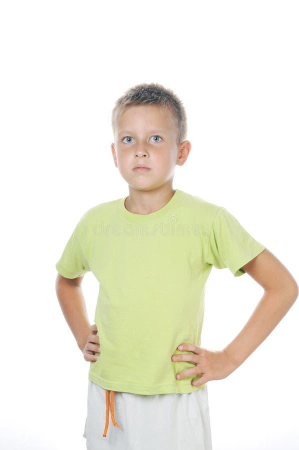 Portrait von 7 Jahren alten Jungen stockfoto