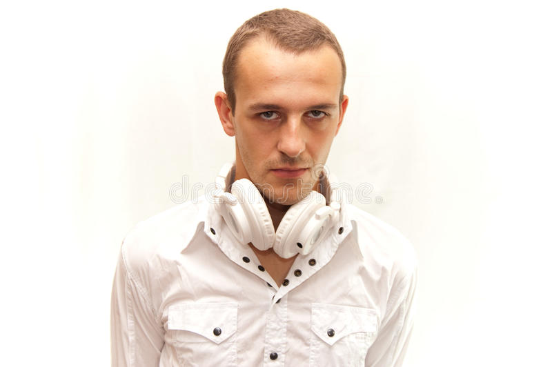 Portrait von DJ stockfoto