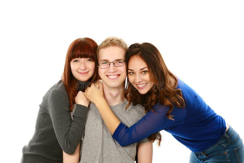 Portrait von drei Teenager lizenzfreie stockfotografie