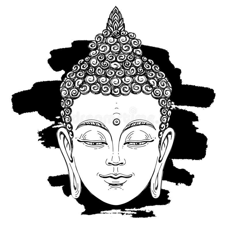 Portrait von einem Buddha Geheimes Konzept vektor abbildung
