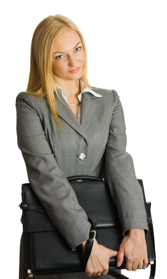 Portrait von recht blondem mit einem Fall stockbilder