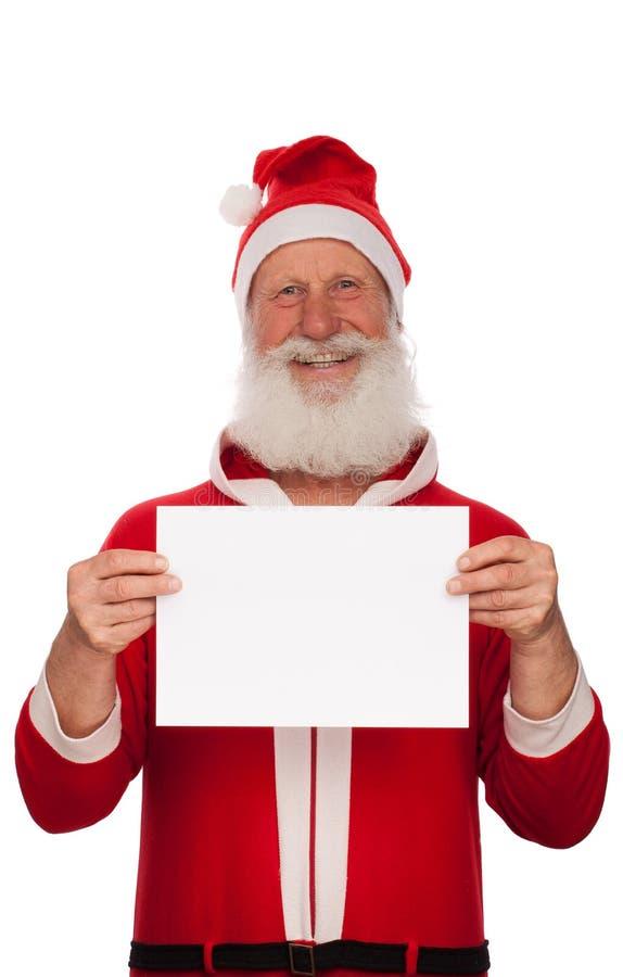 Portrait von Weihnachtsmann stockfotos