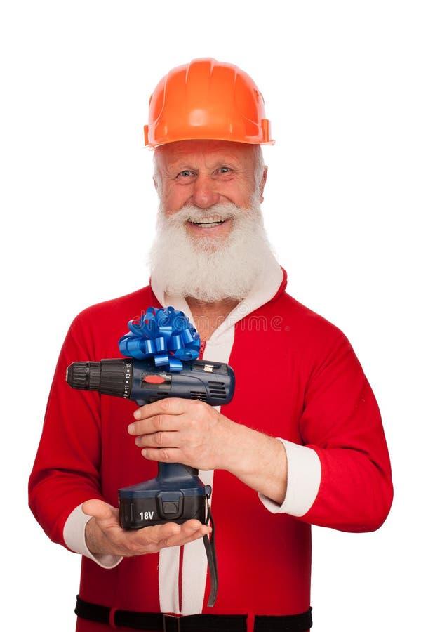Portrait von Weihnachtsmann lizenzfreies stockfoto