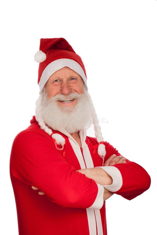 Portrait von Weihnachtsmann lizenzfreies stockbild